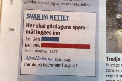 Klipp fra Aftenbladet papir 04082009